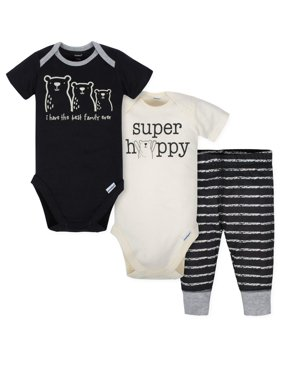 7dc99182fbef1 Product Image Short Sleeve Bodysuits and Active Pant Outfit Set, 3pc (Baby  Boys)