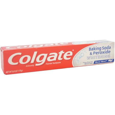 Colgate Baking Soda & Peroxide Whitening Toothpaste, Brisk Mint 6 oz