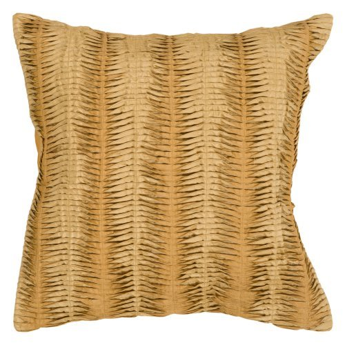 Surya Mystical Pleat Decorative Pillow - Gold