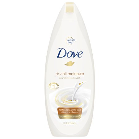 Dry Wash System - Dove Dry Oil Moisture Body Wash, 22 oz