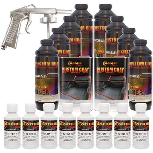 Bed Liner CUSTOM COAT GM WHITE 8-L Urethane Spray-On Truck Kit w/ Spray Gun