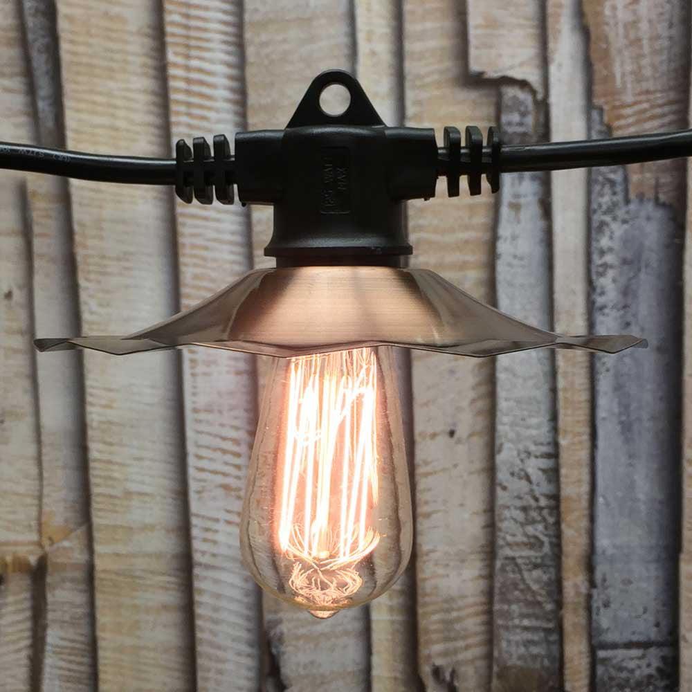 American Lighting Edison Cafe String Lights Copper 100 ft...