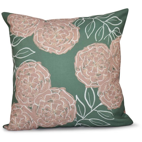 Simply Daisy Floral Print Decorative Pillow, 16