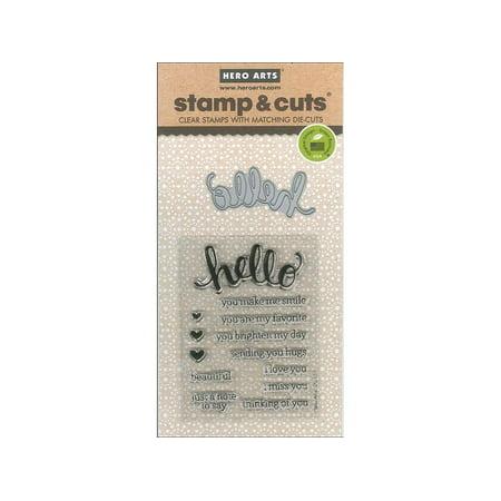 Hero Arts Stamp   Cut Die Hello