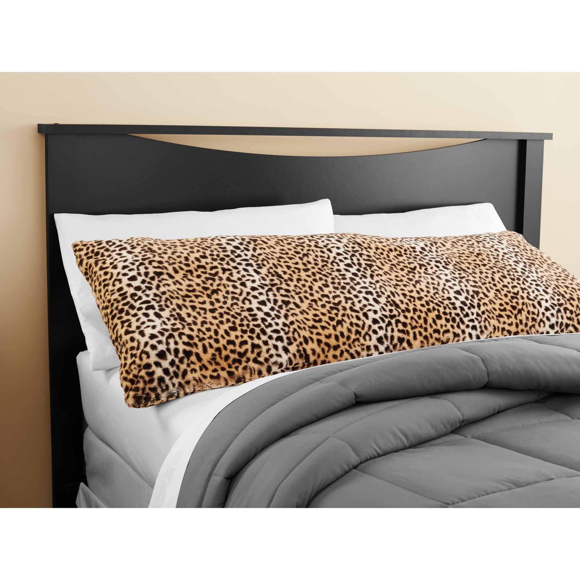 Mainstays Cheetah Fur Body Pillow Cover