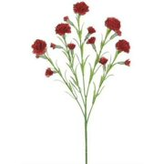 """3Pc Red Silk Carnations - 25.5"""" Tall"""