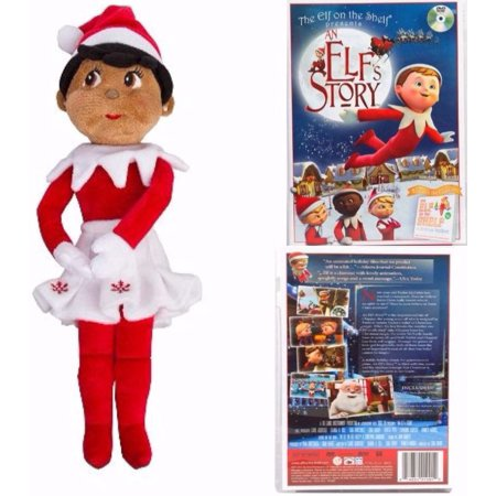The Elf on the Shelf Girl Plushee Pal - Dark with An Elf Story DVD for $<!---->