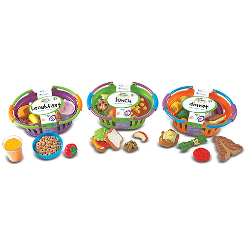 Learning Resources New Sprouts 3 Basket Bundle, Breakfast/Lunch/Dinner