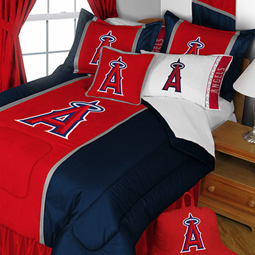 MLB Los Angeles Angels Bedding Set LA Baseball Team Logo ...