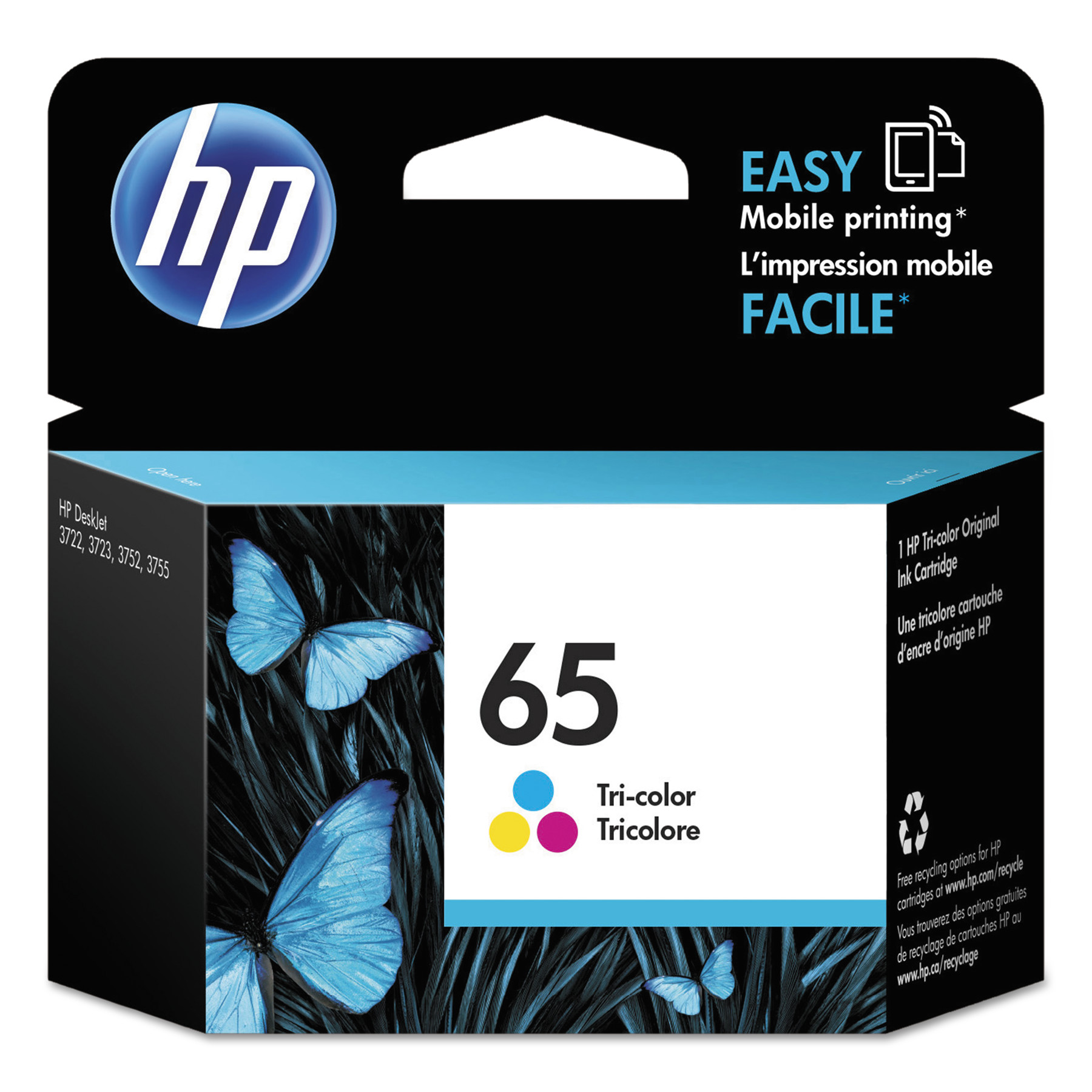 HP 65 Tri-color ink cartridge (N9K01AN)
