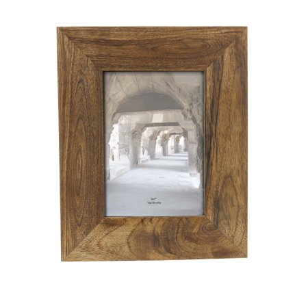 Decmode Modern 10 X 8 Inch Rectangular Brown Wooden Picture Frame, Brown (Wooden Photo Frames)