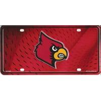 Louisville Cardinals Metal License Plate