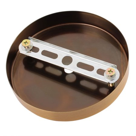 3Pcs Ceiling Plate Straight Edge Disc Chassis Base Light Accessories 120mmx20mm - image 2 of 3