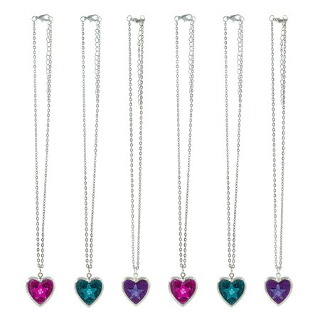 Sacks For Sack Races (FROG SAC Locket Necklaces for Girls, Teens, Kids, Women 6 PCs Pack - Heart Shape Pendants on Silver Chain - Great Gifts and Party Favors Fashion Jewelry)
