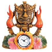 Tiki Fire Clock - Collectible Figurine Statue Sculpture Figure Model
