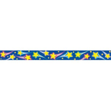 Teacher Created Resources Shooting Stars Straight  Border Trim  Multi Color  4081
