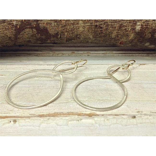 Laura J Designs e5631 Figure 8 Sterling Silver Earrings, 1 x 1. 25 inch