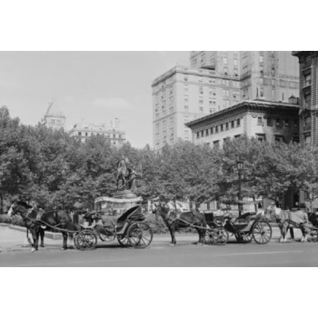 Usa New York State New York City Plaza Hotel At Fifth Avenue And Central Park South Canvas Art     18 X 24
