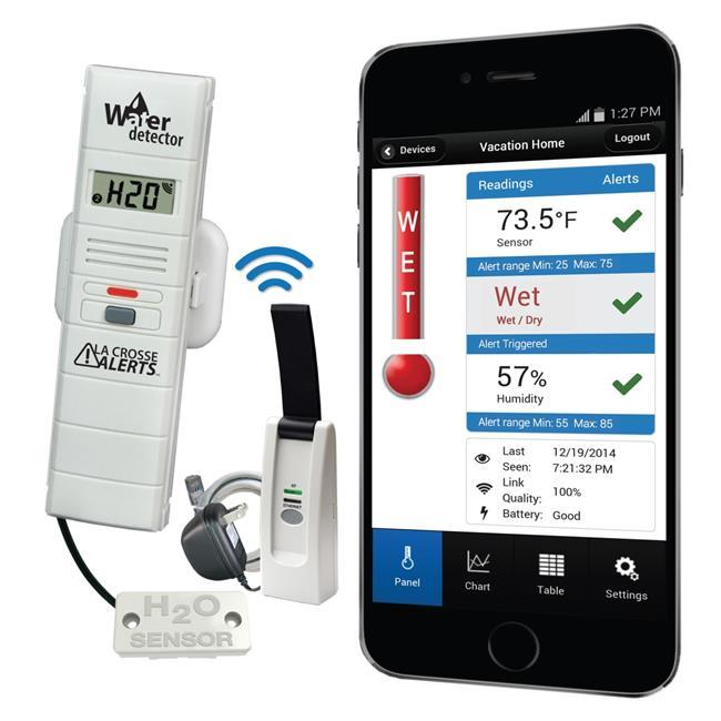 LaCrosse Technology 926-25104-WGB Remote Water Leak Detector