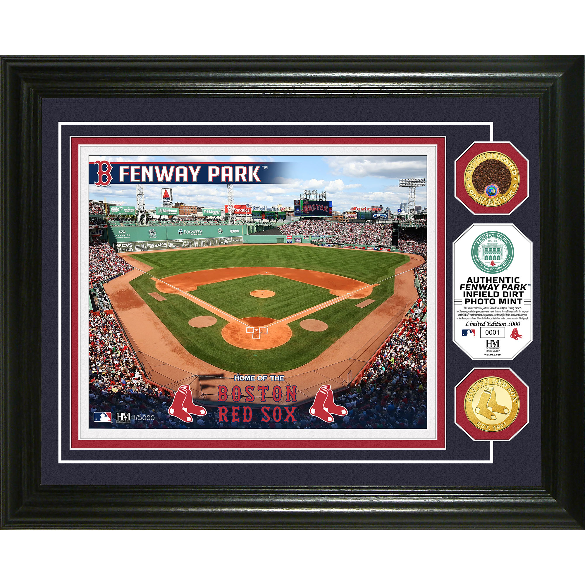 "Boston Red Sox Highland Mint 13"" x 16"" Dirt Coin Photo Mint - No Size"