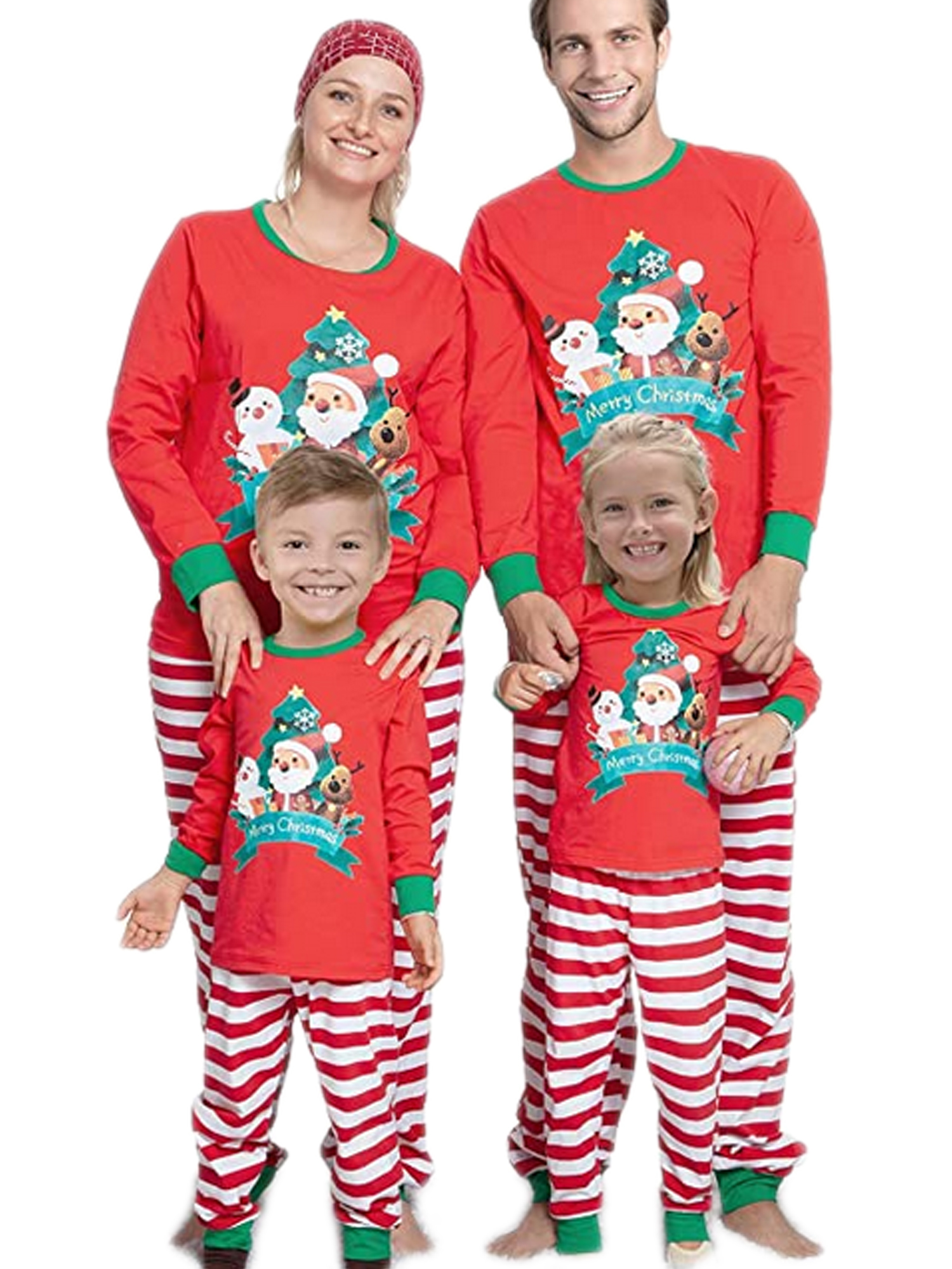 Family Matching Christmas Pajamas Set Men Women Kid Baby Elf Sleepwear Nightwear