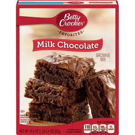 (2 Pack) Betty Crocker Milk Chocolate Brownie Mix Family Size, 18.4
