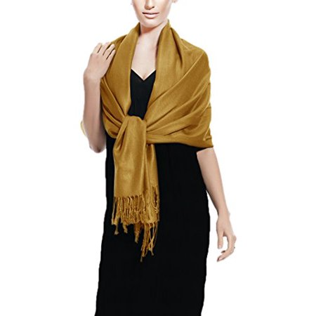 Peach Couture Soft and Silky Bamboo Rayon Pashmina Feel Shawl Scarf Wrap (Brown) - image 1 de 1