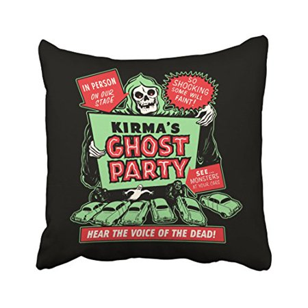 WinHome Vintage Popular Happy Halloween Spook Show Poster Art Ghost Party Polyester 18 x 18 Inch Square Throw Pillow Covers With Hidden Zipper Home Sofa Cushion Decorative Pillowcases](Throw The Best Halloween Party)