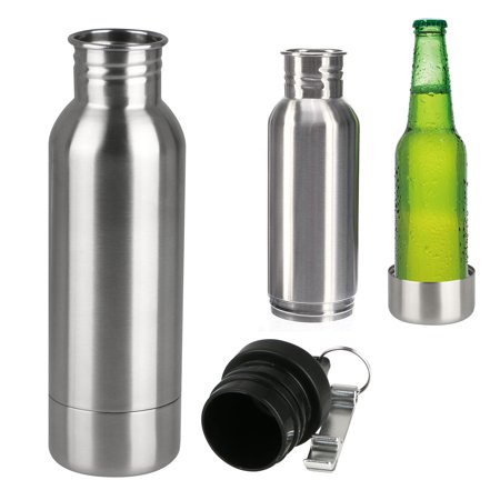Bottle Cup and Can Holder Stainless Steel Insulated Beer Bottle Cooler Holder, with free Beer Opener ()