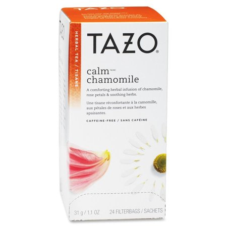 Tazo, Calm Chamomile Herbal Tea, Tea Bags, 24 Ct Cozy Chamomile Herbal Tea