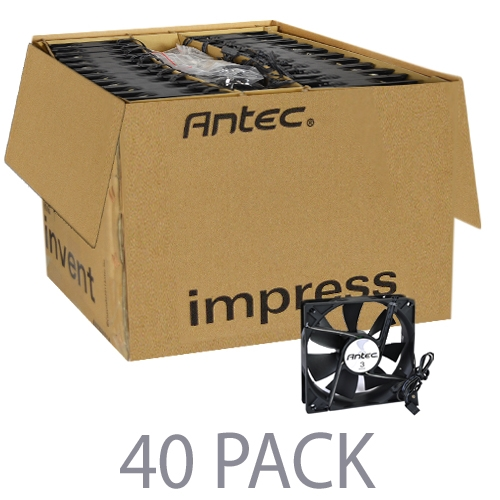 """(40-Pack) 4.75"""" x 4.75"""" (120mm) Antec TriCool 3-Red LED C..."""