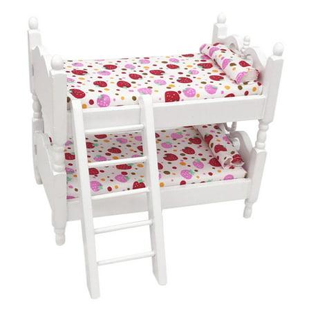 Mini Dollhouse Furniture Bed Set Miniature Living Room Kids Pretend Play Toy