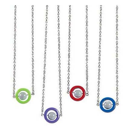 BULK - Fidget Necklace with Moving Spinning Bead - Jewelry Sensory Fidget Toy