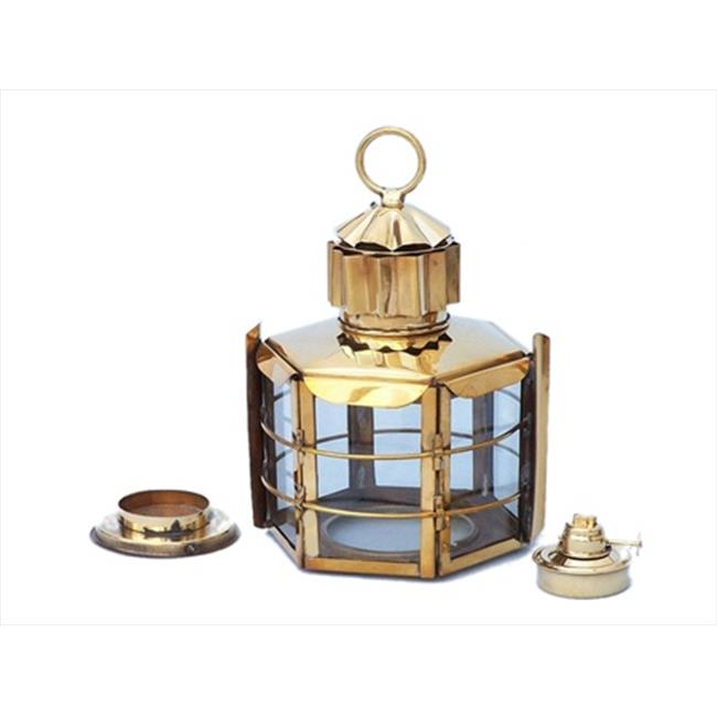 Handcrafted Model Ships NL-1132-12 Solid Brass Clipper Oil Lamp 11 in. Decorative Accent by