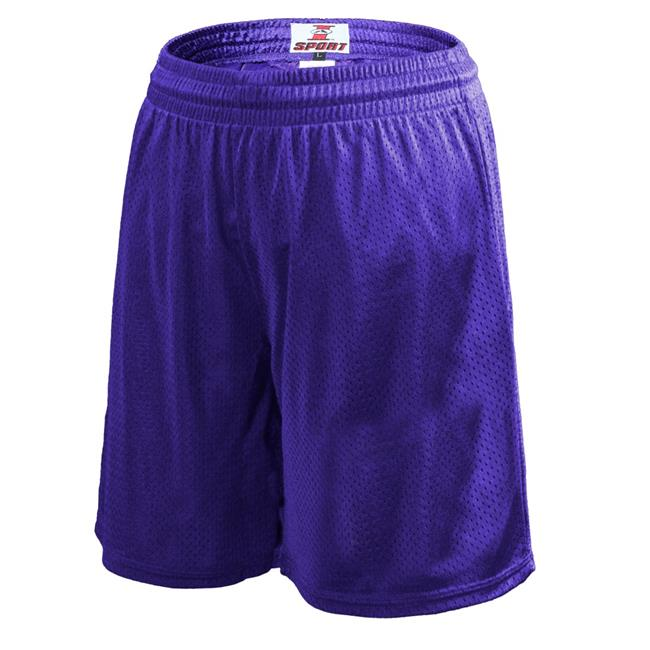 Soffe N2985510SML Womens 8 in. Poly Tricot Shorts, New Purple - Small