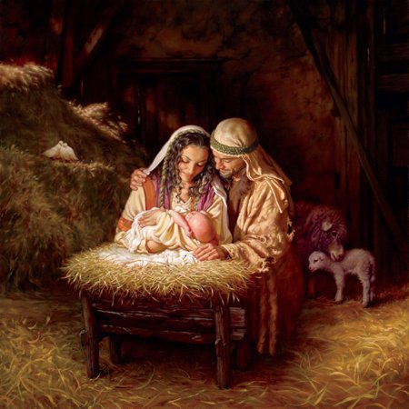 Light of Love Nativity Scene Christian Bible Scene Art Jesus Christ Mary Joseph Print Wall Art By Mark