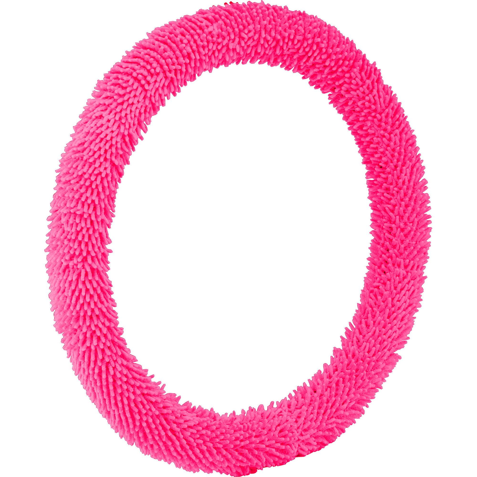 Bell Automotive Pink Shaggy Hyper-Flex Core Steering Wheel Cover