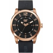 Men's CAT Caterpillar Hardware Black And Rose Silicone Strap Watch NK19121129