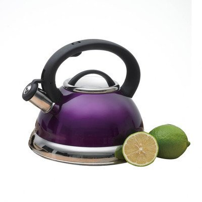 EVCO International Inc. d/b/a Creative Home Creative Home Alexa 3.0 Quart Stainless Steel Whistling Tea Kettle with Capsulated Bottom, Metallic Purple