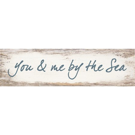 P. Graham Dunn You & Me By The Sea Toothpick Wood Sign One Size White ()