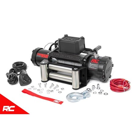 Rough Country 9,500 LB PRO Series Electric Winch w/ Steel Cable PRO9500 Pro Series Electric Winch (Series Electric Winches)