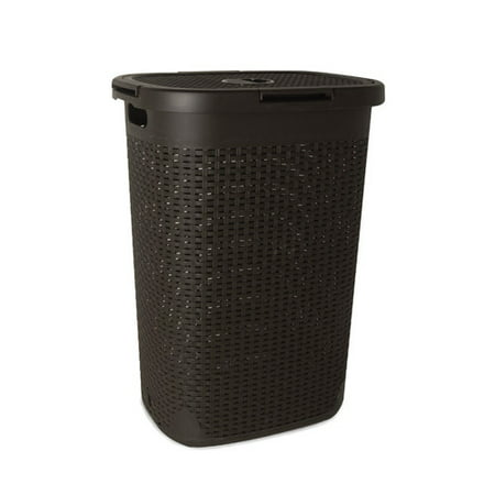 Superio Laundry Hamper Palm Luxe Collection 1.7 Bushel (Brown) ()