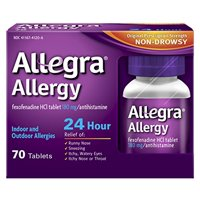 Allegra Adult 24 Hour Allergy Tablets, 180Mg, 70 Each