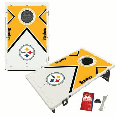 Pittsburgh Steelers 2 'x 3' Vintage Design BAGGO Bean Bag Toss Game - No Size