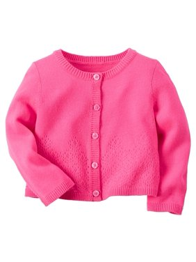 a5ac611d3e2 Product Image Carters Baby Clothing Outfit Girls Pointelle Cardigan Pink