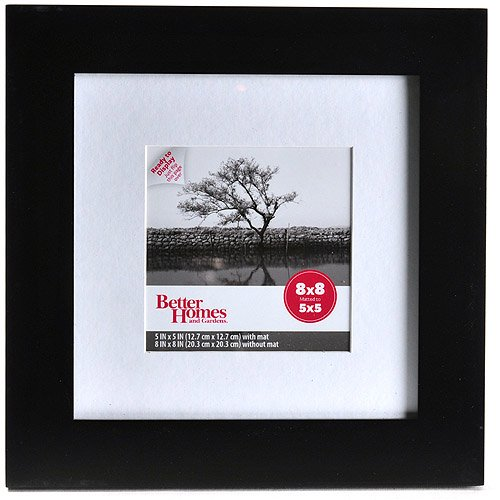 Better Homes And Gardens Flat Gallery 8x8 Matted Picture Frames Set