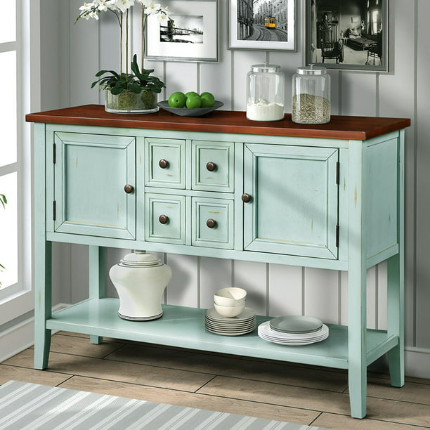 "blue console table buffet sideboard, 2020 new 46"" buffet"