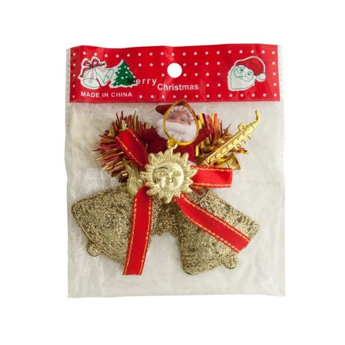 Bulk Buys Santa/Bells Hanging Christmas Decoration, Case of 25