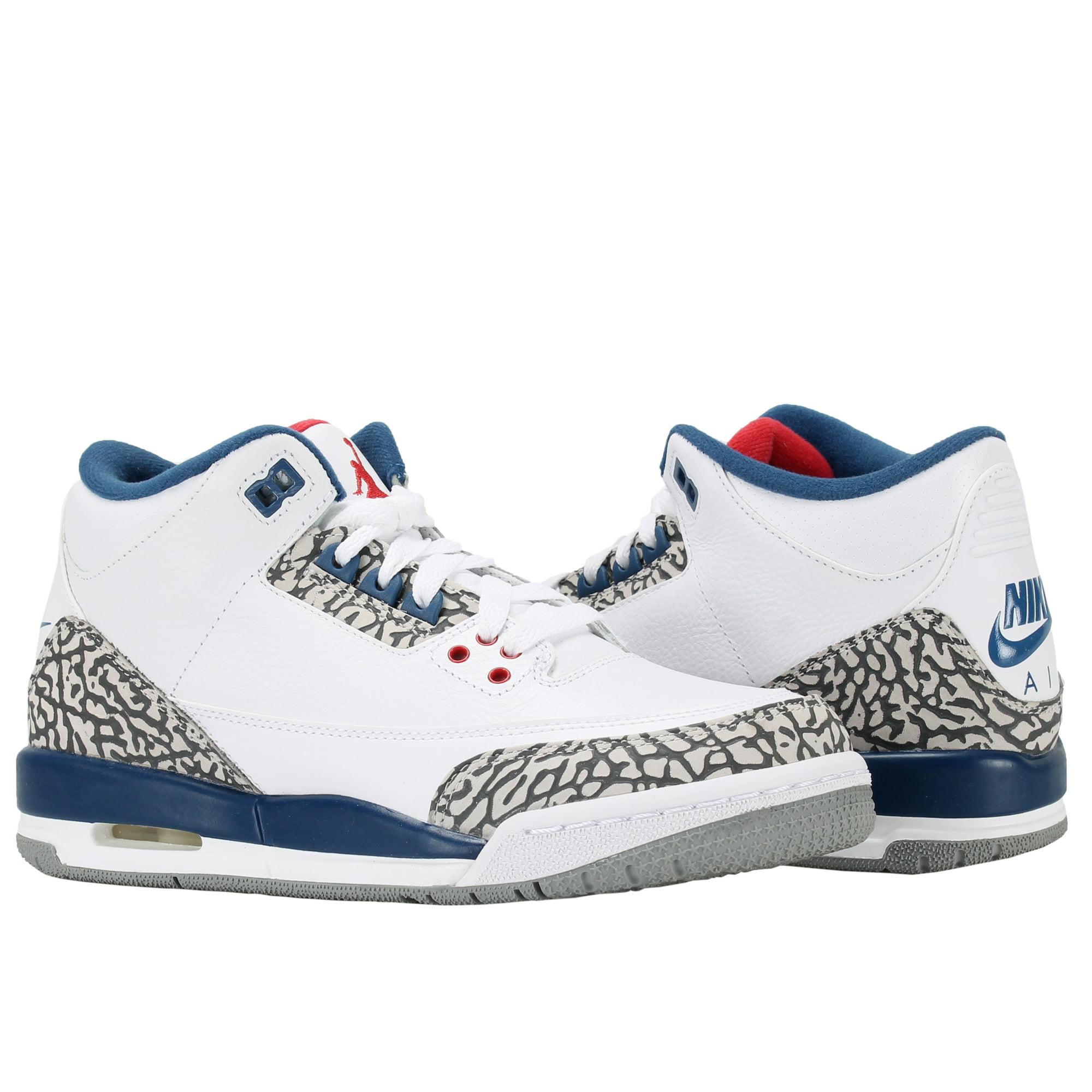 sports shoes 9a740 654aa Nike Air Jordan 3 Retro OG BG True Blue Big Kids Basketball Shoes 854261-106