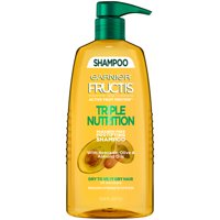 Garnier Shampoo, Dry to Very Dry Hair, Fructis Triple Nutrition, 33.8 fl. oz.